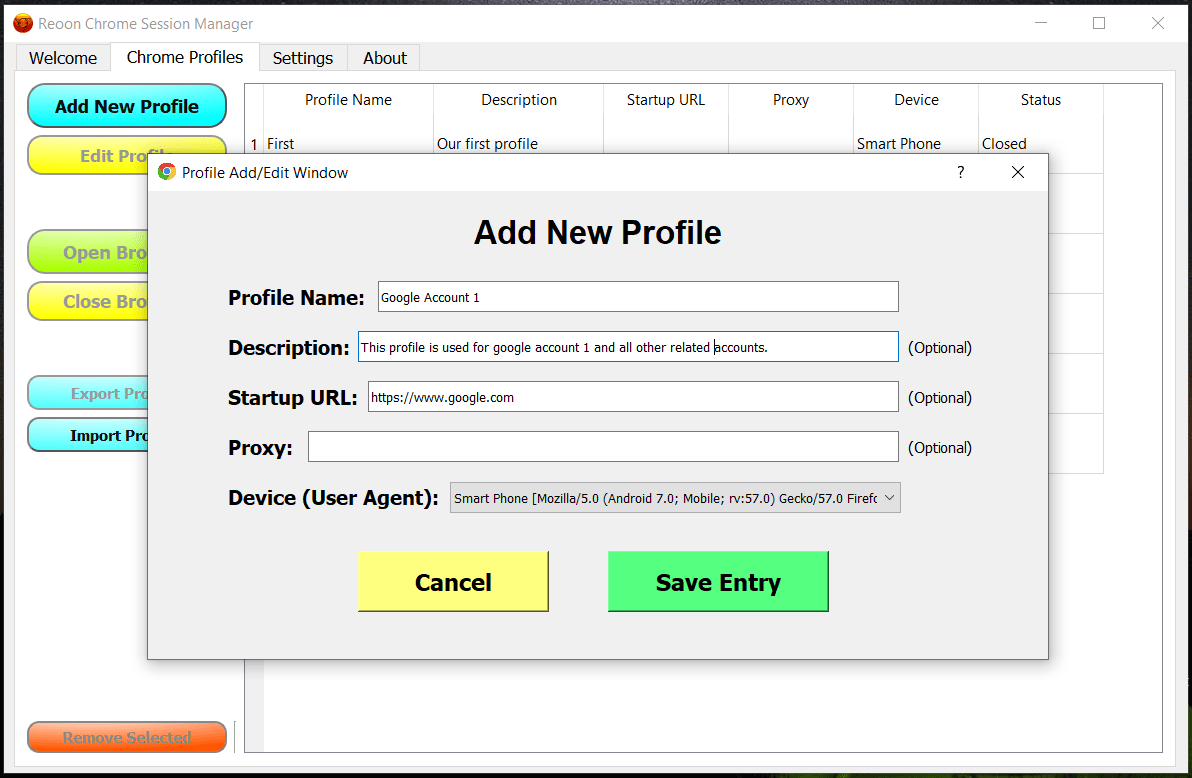 Chrome Session Manager