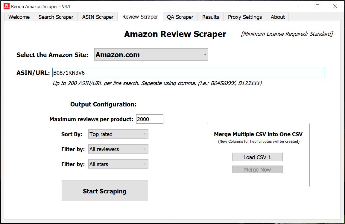 Amaszon Review Scraper