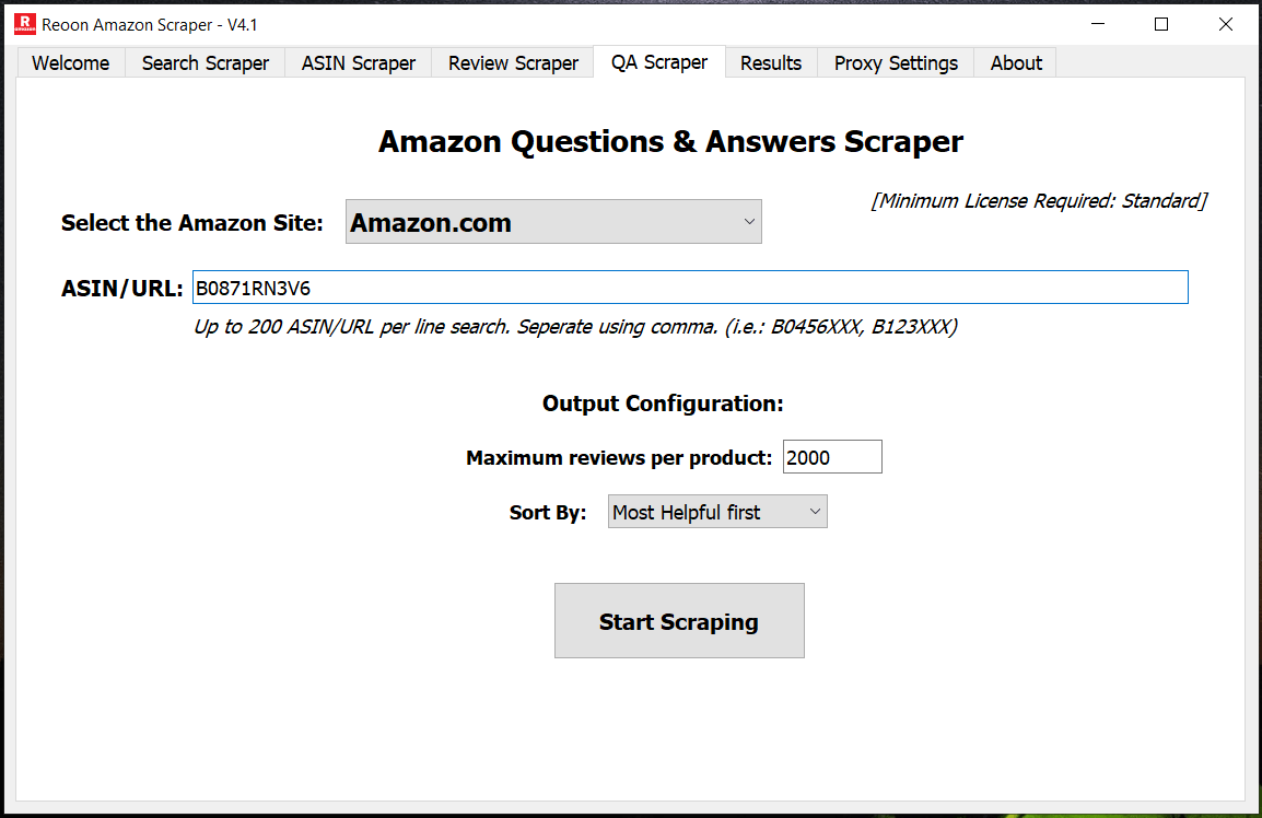Amaszon Question Answer Scraper